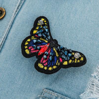 "Брошь ""Бабочка яркая"", разноцветная"