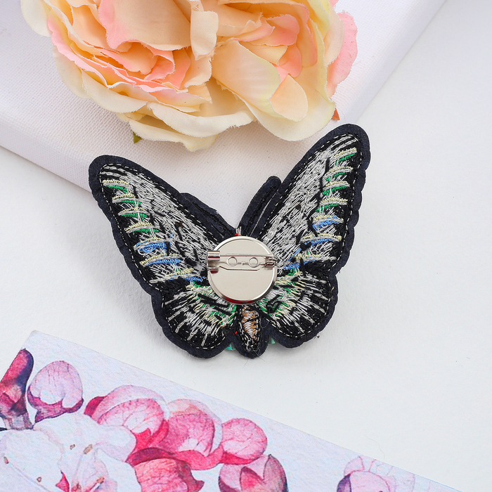 """Брошь """"Бабочка с усиками"""", разноцветная - фото 298240330"""
