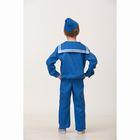 Карнавальный костюм «Матрос», (матроска, брюки, пилотка), размер 38, рост 152 см - фото 105522284