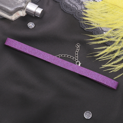 """Чокер """"Амели"""" с блёстками, цвет фиолетовый в серебре"""