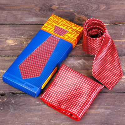 "Gift set: tie and kerchief ""Superhero"""