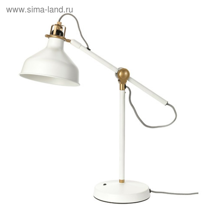 Настольная лампа RANARP 1x40Вт Е27 белый 19x19x42см