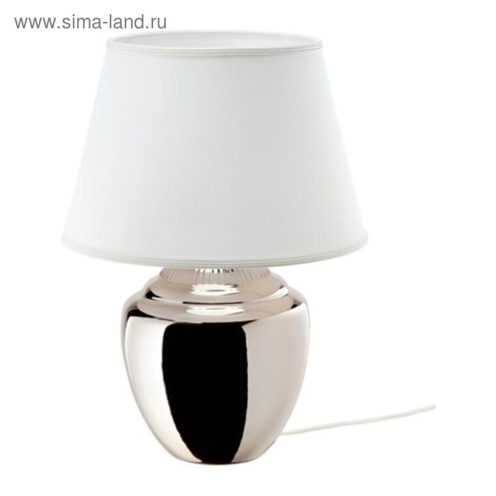 Настольная лампа RICKARUM 1x13Вт Е27 серебро 34x34x47см