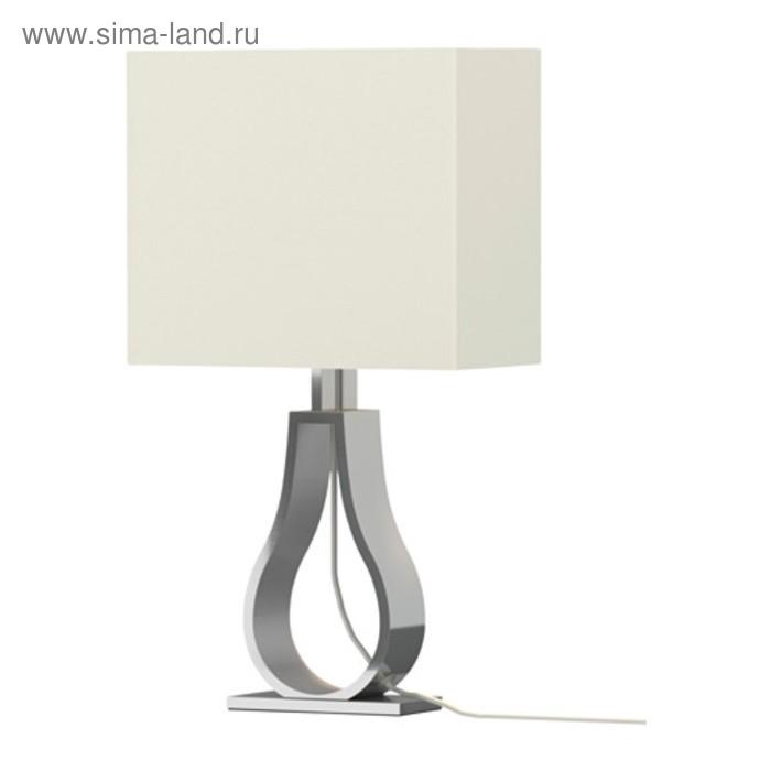 Настольная лампа KLABB 1x40Вт Е14 никель 24x44см