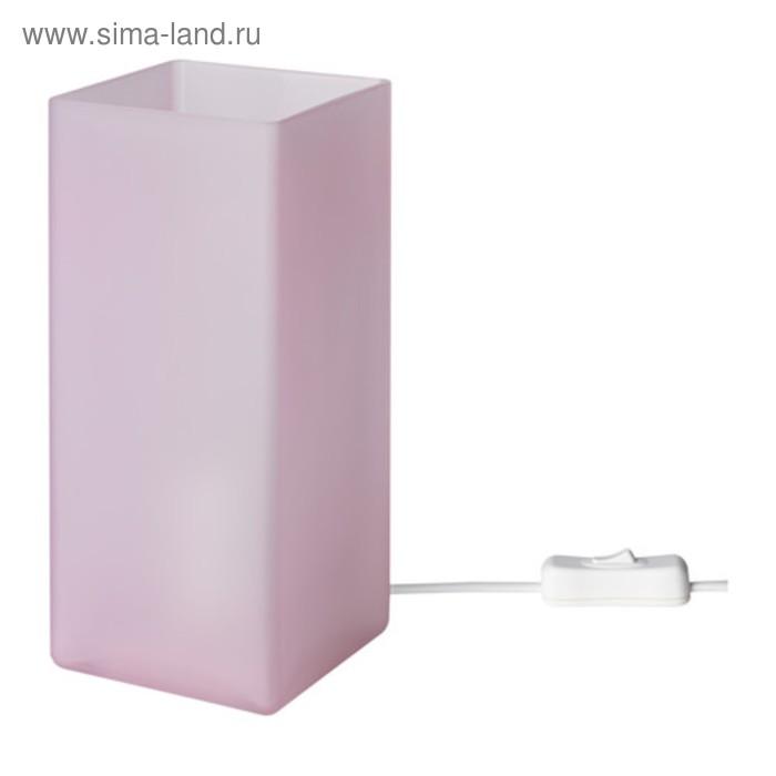 Настольная лампа GRONO 1x40Вт Е14 розовый 10x10x22см