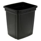 Корзина для бумаг 12 литров, цельная, прямоугольная, чёрная