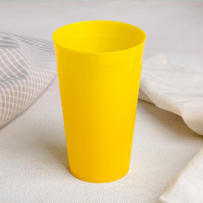 Стакан 400 мл, цвет жёлтый