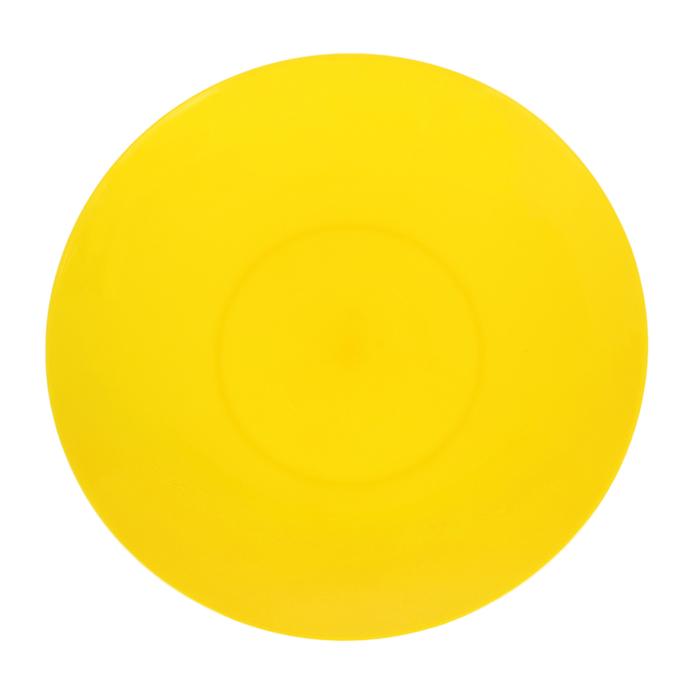 Тарелка 19 см, цвет жёлтый