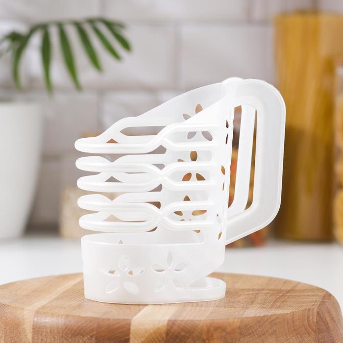 Держатель для молока 1 л, цвет белый мрамор