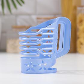 Держатель для молока 1 л, цвет голубой