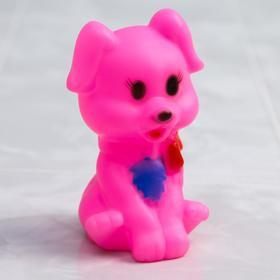 Резиновая игрушка для игры в ванной «Собачка», с пищалкой, цвет МИКС
