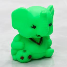 Резиновая игрушка для игры в ванной «Слоник», с пищалкой, цвет МИКС