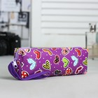 Косметичка-футляр на молнии, 1 отдел, с ручкой, цвет фиолетовый
