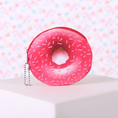 """Purse baby """"Donut"""", the zipper chain color red"""