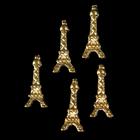"""Декоративный элемент """"Эйфелева башня"""", 5шт, цвет золотой"""