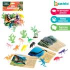 Развивающий набор фигурок динозавров для детей «Древний мир», животные, карточки, по методике Монтессори - фото 76136685