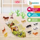 Набор животных с обучающими карточками «Фермерское хозяйство», животные пластик, карточки, по методике Монтессори - фото 76136691