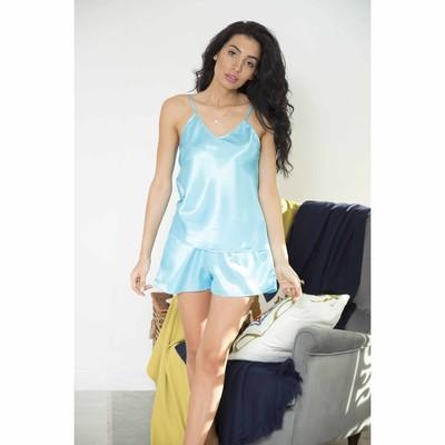"""Комплект домашний однотонный """"Passion"""" (майка, шорты), размер 44-46 (XL), цвет голубой"""