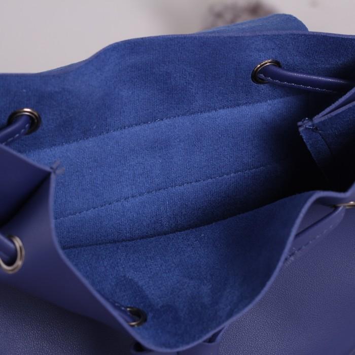 Рюкзак молодёжный, отдел на шнурке, цвет синий - фото 551436828