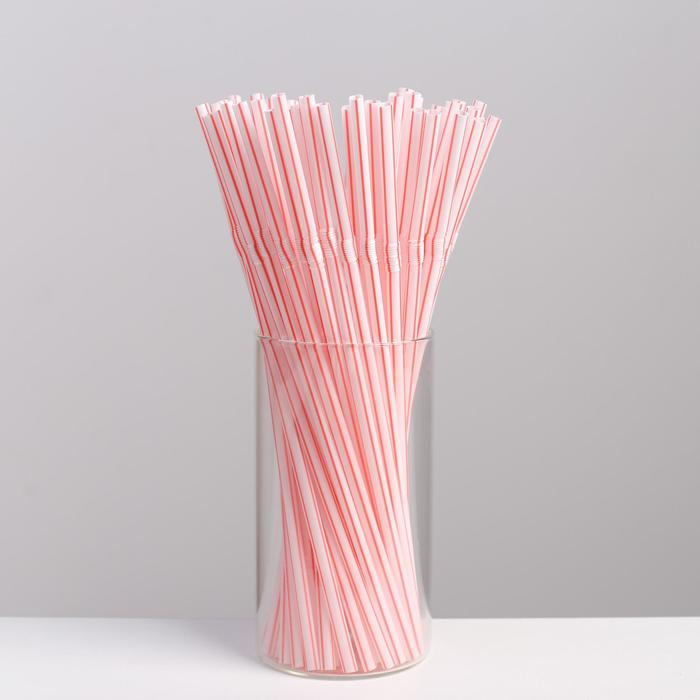 Набор трубочек гофрированных для напитков Grifon, 21 см, 50 шт/уп - фото 308013040