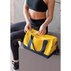Сумка спортивная, отдел на молнии, наружный карман, длинный ремень, цвет синий/жёлтый