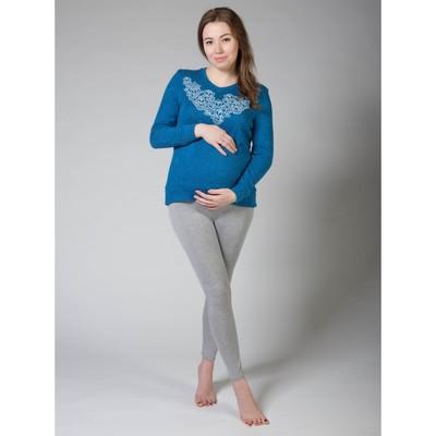 Легинсы домашние для беременных (высокие), размер M-XL, цвет тёмно-серый