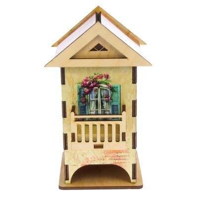 """Чайный домик """"Домик с балконом"""" цветной 12х13х19,5 см МИКС"""