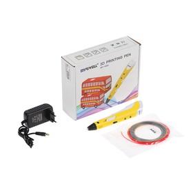 3D ручка Myriwell RP-100A, ABS, желтая (+ пластик, 3 цвета)