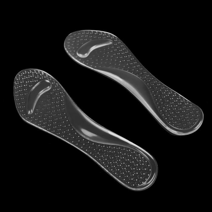 Стельки для обуви, амортизирующие, массажные, на клеевой основе, пара, цвет прозрачный