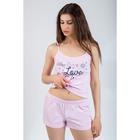 Комплект женский (топ, шорты) 8912 цвет розовый, р-р 48