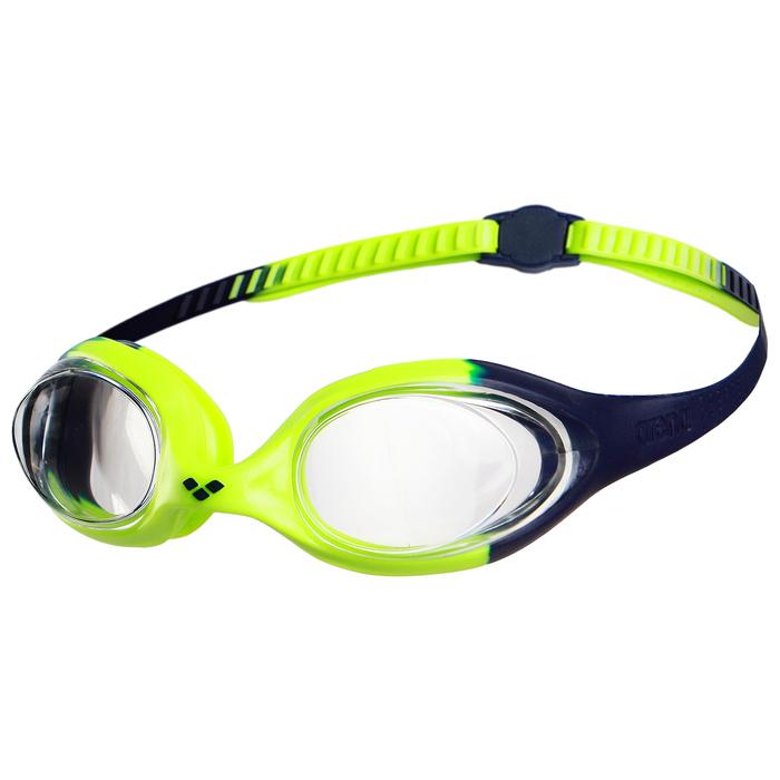 Очки для плавания детские ARENA Spider Jr, прозрачные линзы, цвет зелёный-чёрный
