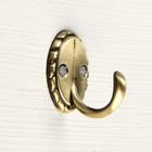 Крючок мебельный KM1006AB, однорожковый, цвет бронза