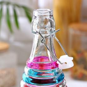 Бутыль для соусов и масла «Галерея», 1 л, 8,5×32 см, с бугельным замком, цвет МИКС
