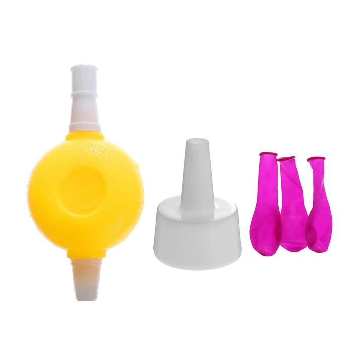 Водная бомба набор 200 штук с насосом и насадкой, цвет фуксия