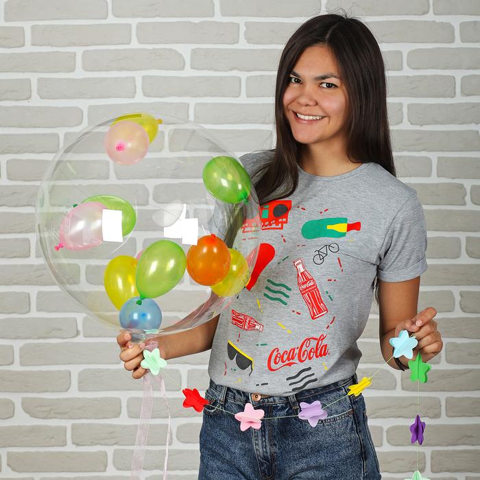 """Шар воздушный 18"""" «Праздник», прозрачный + 10 шариков 3"""", лента, гирлянда - фото 308466153"""
