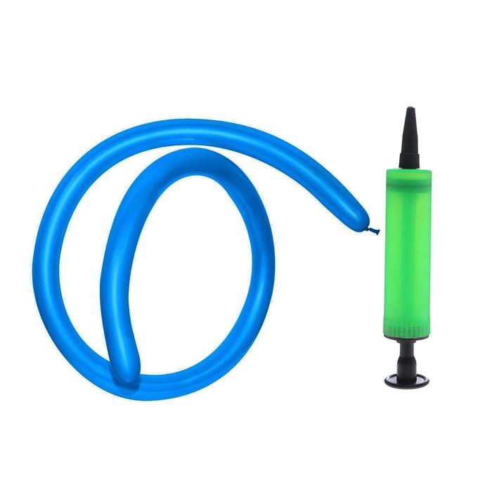 Набор шаров для моделирования 260, синий цвет, 100 шт + насос