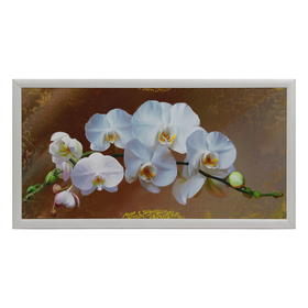 """Картина """"Бело-розовые цветы"""" 55х105 см"""