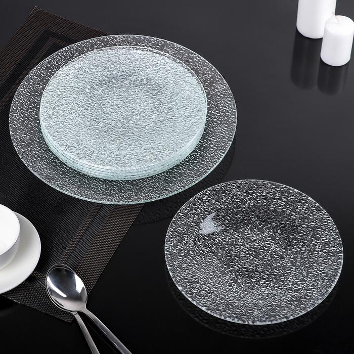 Сервиз столовый, 7 предметов: 1 тарелка 29,5 см, 6 тарелок 22 см, подарочная упаковка