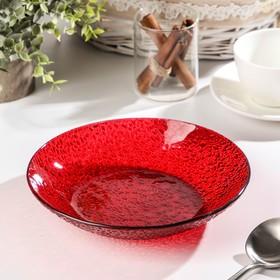 Тарелка, d=20 см, красная
