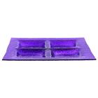 Менажница 26,3х26,3 см, цвет фиолетовый