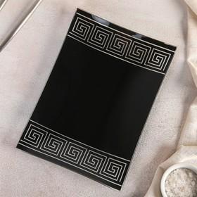 Блюдо «Версаче», 23,5×17 см, цвет чёрный, подарочная упаковка
