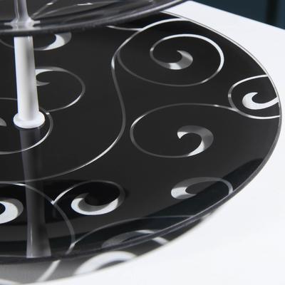"""Этажерка 2-х ярусная 24×30 см """"Марокко"""", цвет чёрный, подарочная упаковка, основание МИКС"""