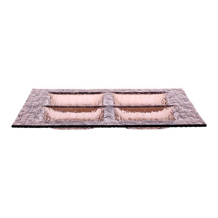 Менажница 26,3х26,3 см, цвет бронзовый
