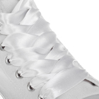 Шнурки атласные 20мм 110см (пара) 01 бел