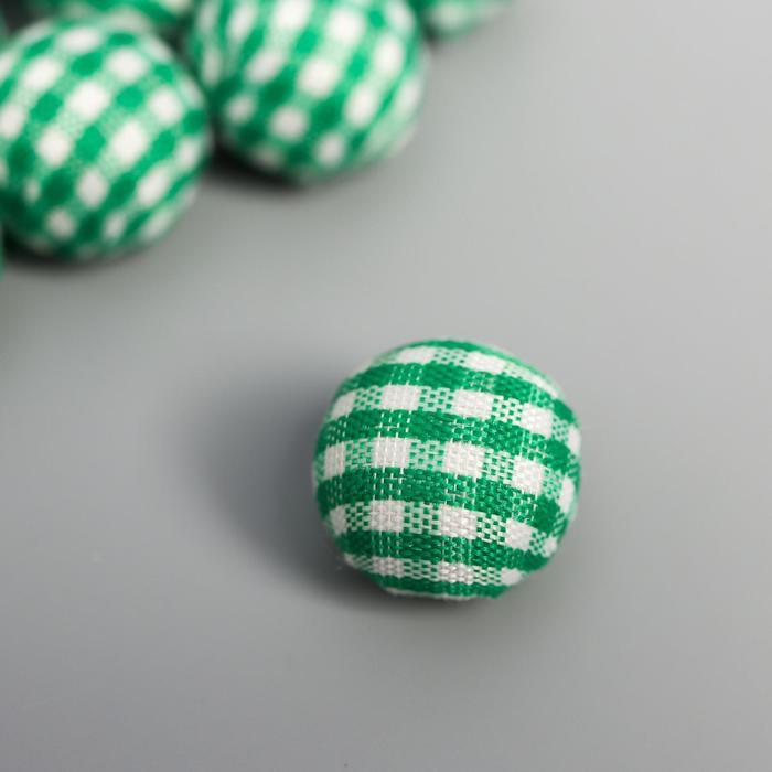 """Декор для творчества """"Шарик в зелёную клеточку"""" (набор 10 шт) 1,5х1,5 см - фото 420695"""