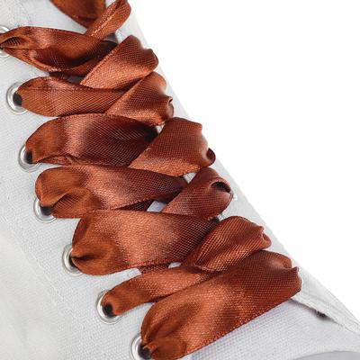 Шнурки для обуви, 20 мм, 110 см, пара, цвет коричневый