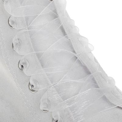Шнурки капроновые 20мм 110 см (пара) JF01 бел