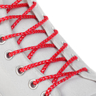 Шнурки для обуви, серебряная нить, d = 3 мм, 110 см, пара, цвет красный