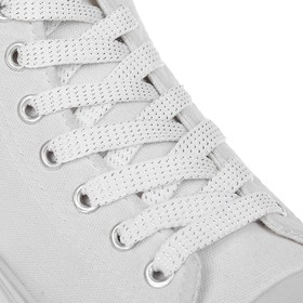 Laces for footwear, 8 mm, 110 cm, pair, white