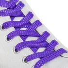 Шнурки для обуви, плоские, 8 мм, 110 см, пара, цвет фиолетовый